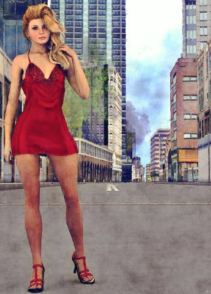 Painting - Blonde In The City by Maynard Ellis