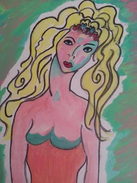 Blonde Lady Art Print