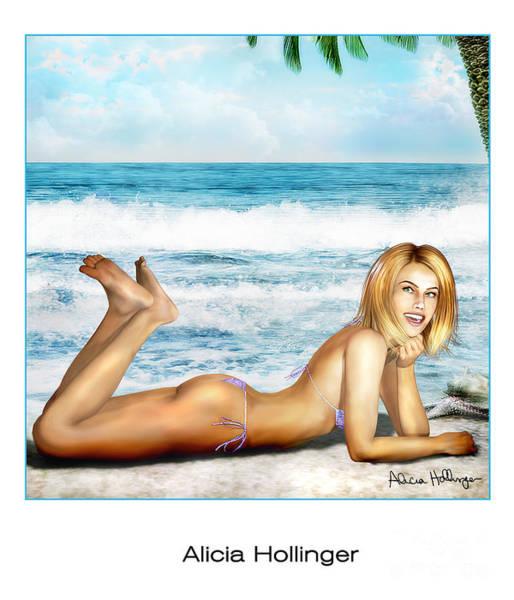 Blonde On Beach Art Print