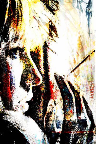 Blondie Digital Art - Blonde Smoking by Andrea Barbieri