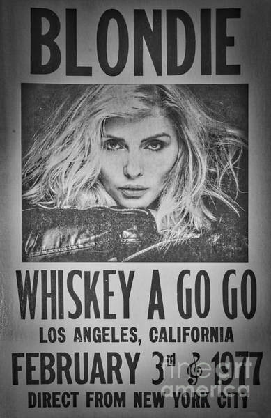 New Wave Music Photograph - Blondie At The Whiskey A Go Go by Mitch Shindelbower