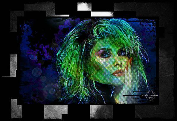 Wall Art - Digital Art - Blondie - Debbie Harry by Absinthe Art By Michelle LeAnn Scott