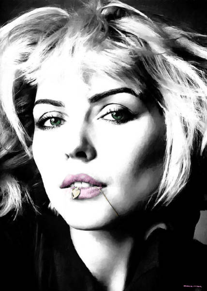 Digital Art - Blondie Large Size Portrait by Gabriel T Toro