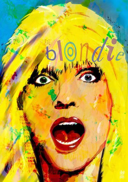 Blondie Digital Art - Blondie by Neil Finnemore
