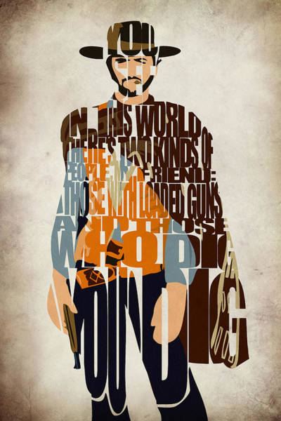 Wall Art - Digital Art - Blondie Poster From The Good The Bad And The Ugly by Inspirowl Design