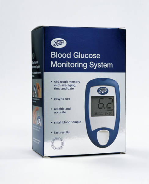 Package Wall Art - Photograph - Blood Glucose Test by Mark Thomas/science Photo Library