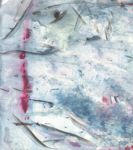 Digital Art - Blood In The Snow. White-blue Background by Hanna Furs