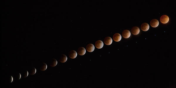 Blood Moon Wall Art - Photograph - Blood Line by Peter Tellone