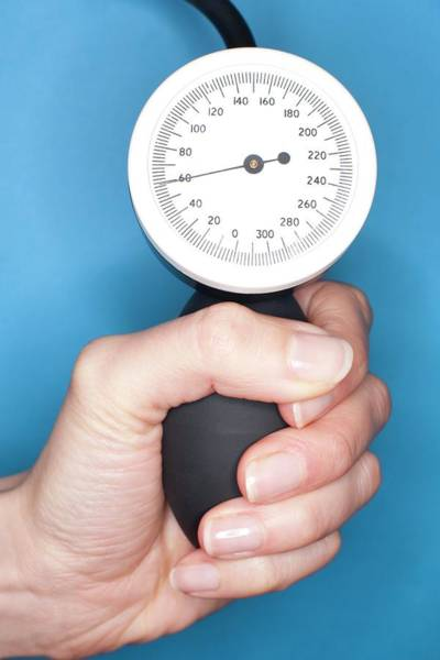 Gauge Photograph - Blood Pressure Gauge by Ian Hooton/science Photo Library