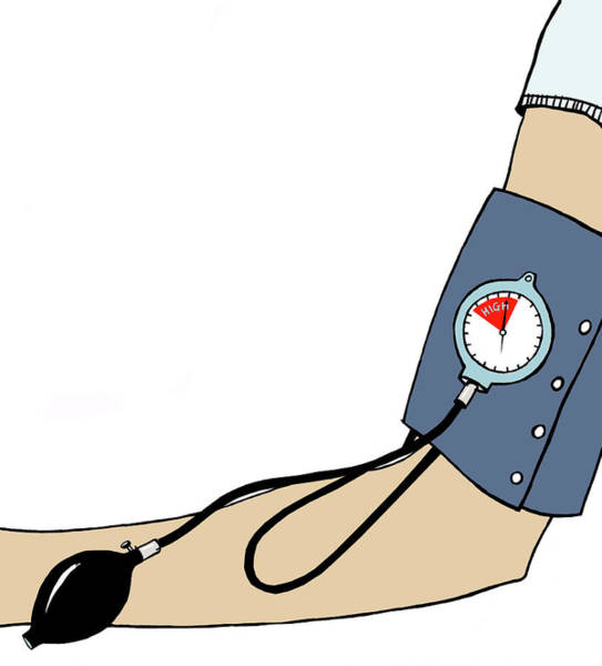 Pump Photograph - Blood Pressure Measurement by Anna Wright/science Photo Library