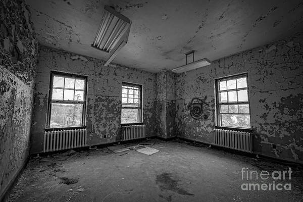 Nikon D800 Wall Art - Photograph - Blood Stain Bw by Michael Ver Sprill