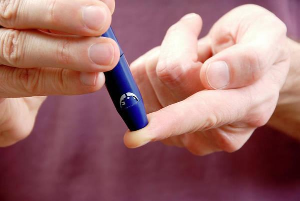 Diagnose Photograph - Blood Sugar Level Testing In Diabetes by Aj Photo