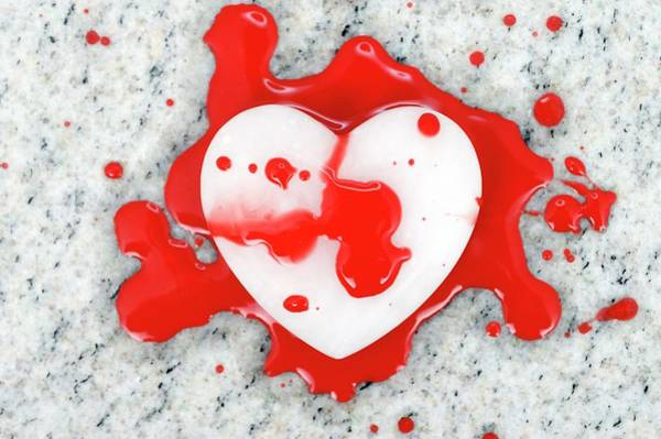 Heart Attack Wall Art - Photograph - Bloodied Heart by Bildagentur-online/ohde/science Photo Library