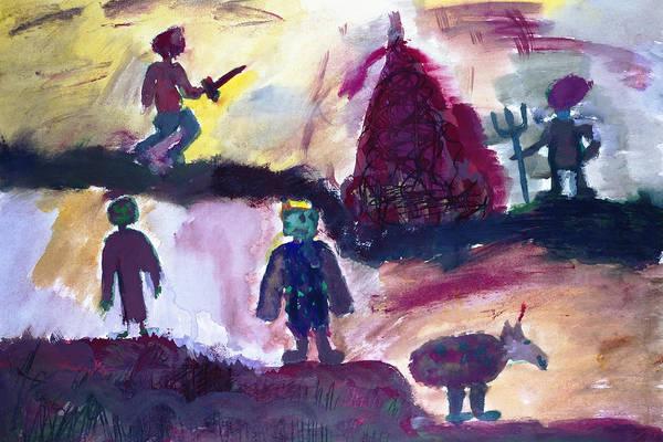 Destructive Painting - Bloody Civil War by Simonas Pazemeckas