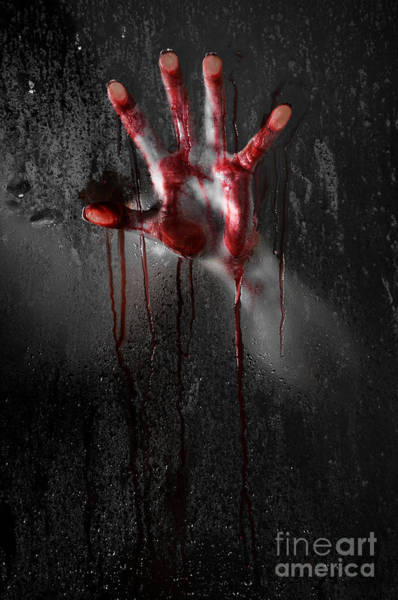 Kidnap Wall Art - Photograph - Bloody Hand by Jt PhotoDesign