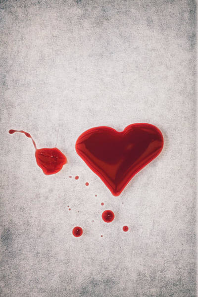 Bleeding Photograph - Bloody Heart by Joana Kruse