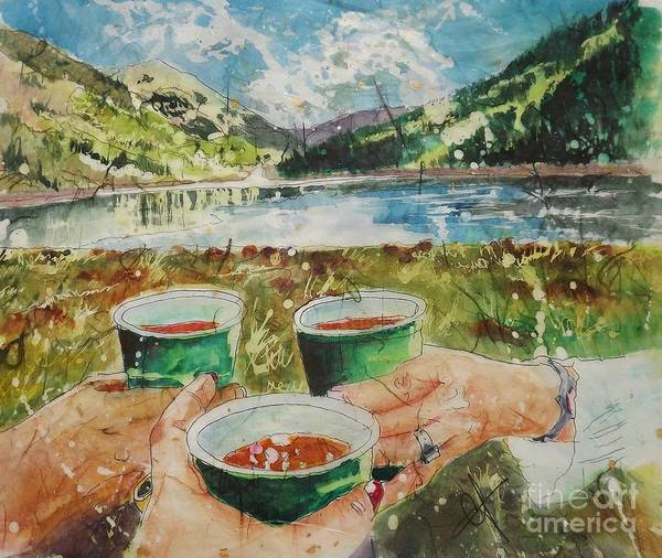 Painting - Bloody Mary Mountain Morning by Carol Losinski Naylor