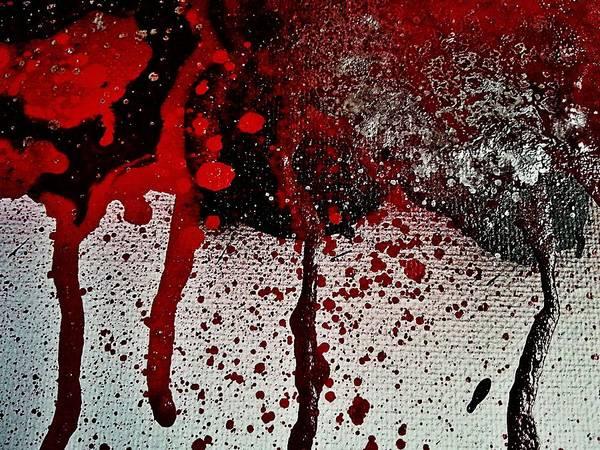 Blacklight Painting - Bloody Rose Cream And Forgotten Sunshine by Stephanie Bridge
