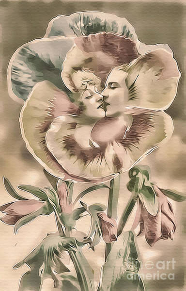 Photograph - Bloomin' Kiss Pastel by Lesa Fine