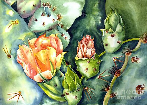 Blooming Cactus II Art Print