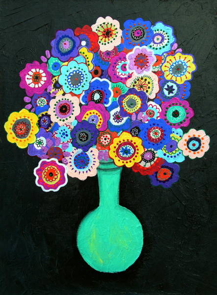 Painting - Blooming Florals 2 by Pristine Cartera Turkus