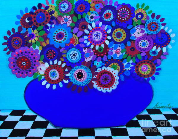 Painting - Blooming Florals by Pristine Cartera Turkus