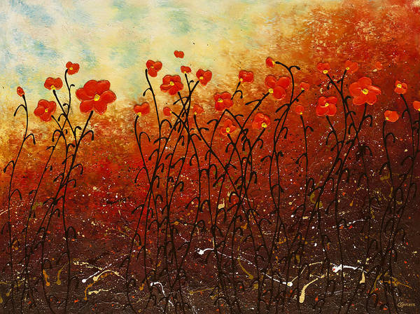 Painting - Blooming Flowers by Carmen Guedez
