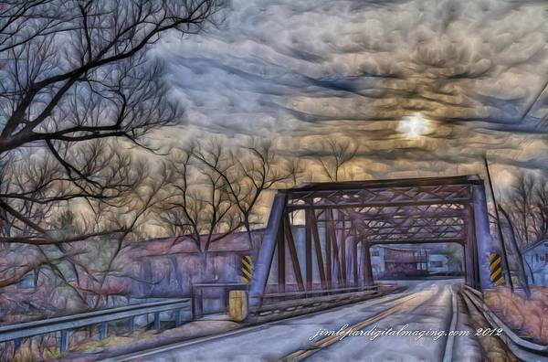 Photograph - Blossom Creek Arched Bridge by Jim Lepard