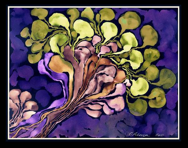Utilitarian Painting - Blossom Of Spring    Purple by Cathy Peterson