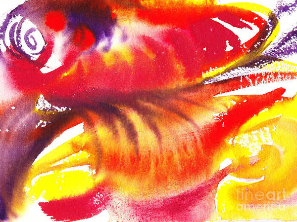 Guest Painting - Blossoming Flames Abstract  by Irina Sztukowski