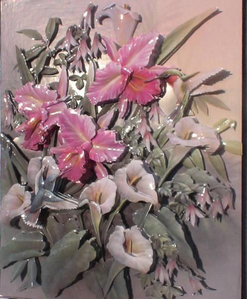 Calla Mixed Media - Blossoming Flowers by Yuting Su