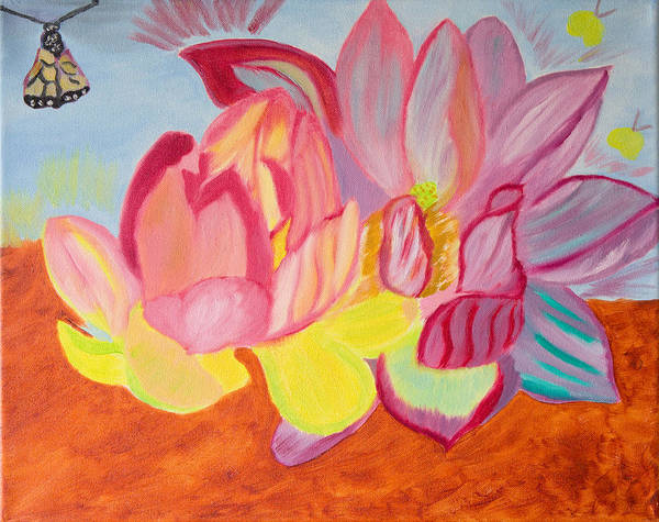 Wall Art - Painting - Blossoming by Meryl Goudey