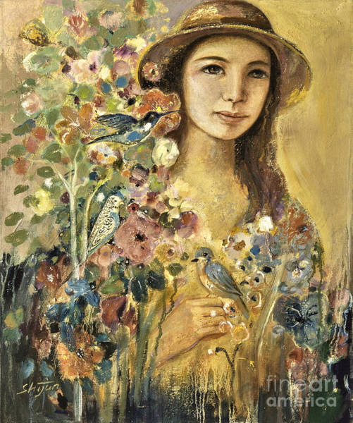 Painting - Blossoming by Shijun Munns