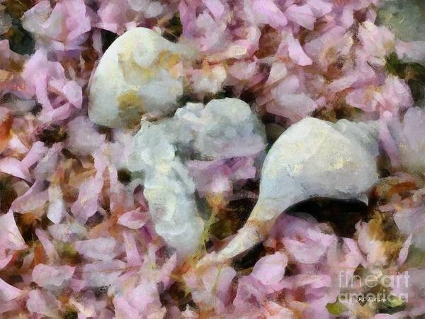 Painting - Blossoms And Shells by RC DeWinter