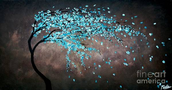 Wall Art - Painting - Blossoms In The Wind by Michael Grubb