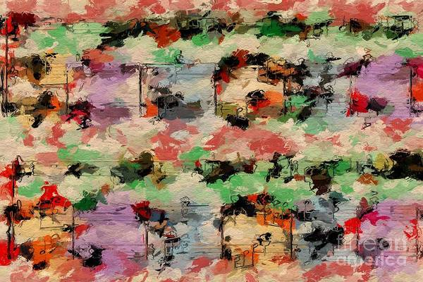Digital Art - Blotched Up Divertimento 1 by Lon Chaffin