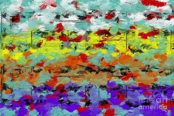 Digital Art - Blotched Up Divertimento 3 by Lon Chaffin