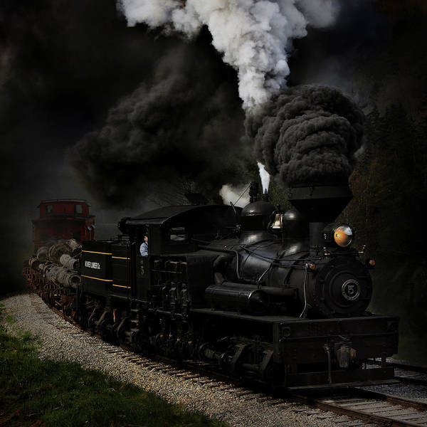 Railroads Photograph - Blow That Whistle by Chuck Gordon