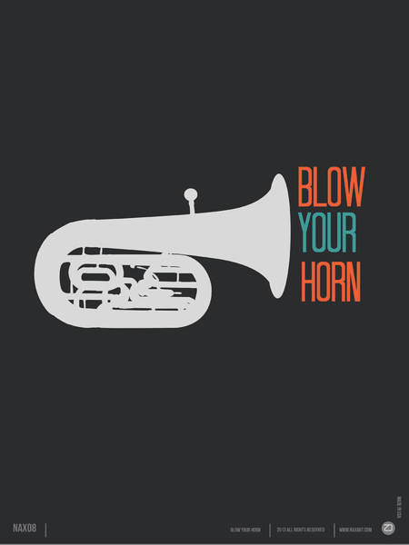 Amusing Wall Art - Digital Art - Blow Your Horn Poster by Naxart Studio