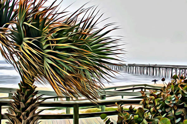 Photograph - Blowin At The Beach by Alice Gipson