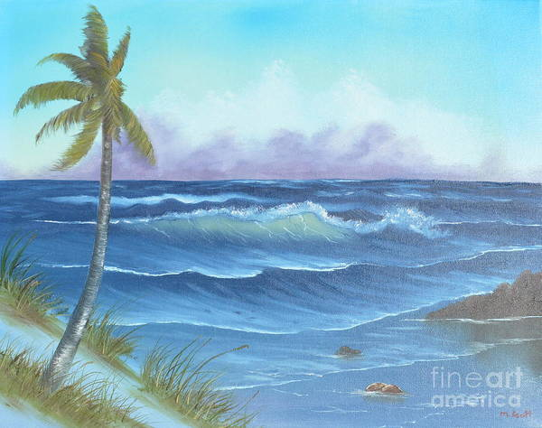 Art Print featuring the painting Blowing In The Wind by Mary Scott