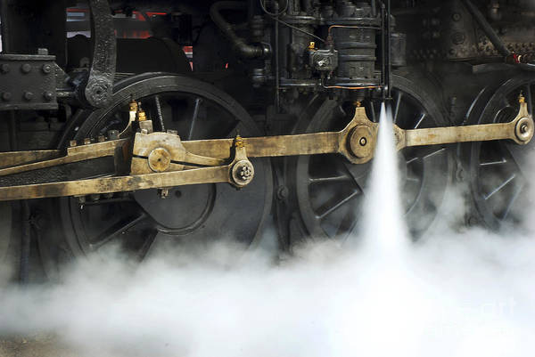 Blowing Of Steam Art Print