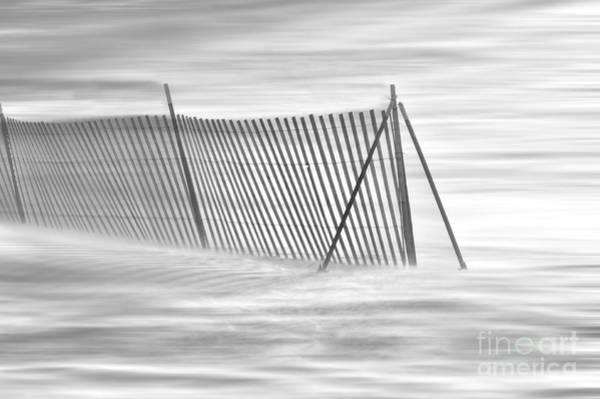Photograph - Blowing Snow At Snow Fence  by Dan Friend