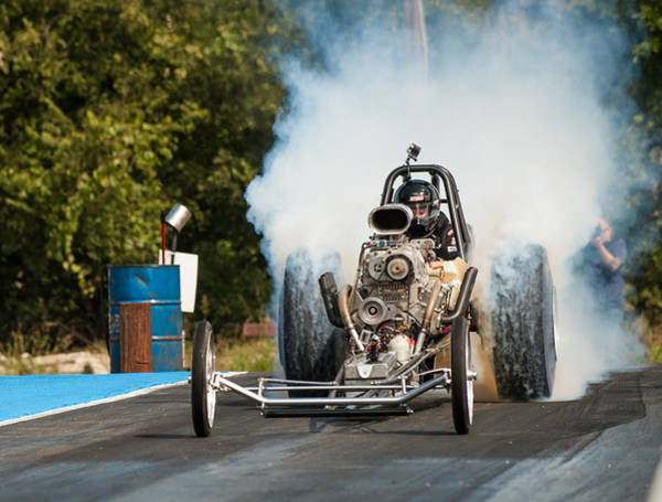 Photograph - Blown Front Engine Dragster Burnout by Todd Aaron