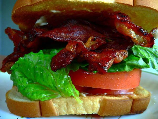Photograph - Blt Bacon Lettuce Tomato by Jeff Lowe
