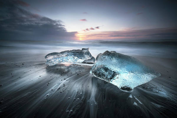 Silky Wall Art - Photograph - Blu Ice by Nicola Molteni