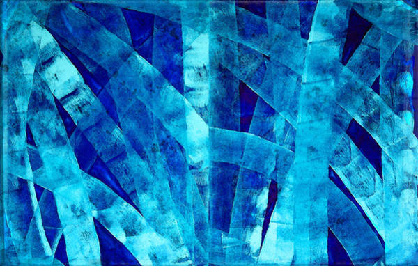 Wall Art - Painting - Blue Abstract Art - Paths - By Sharon Cummings by Sharon Cummings