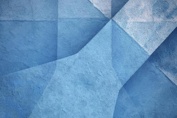 Shape Wall Art - Photograph - Blue Abstract by Hans-wolfgang Hawerkamp