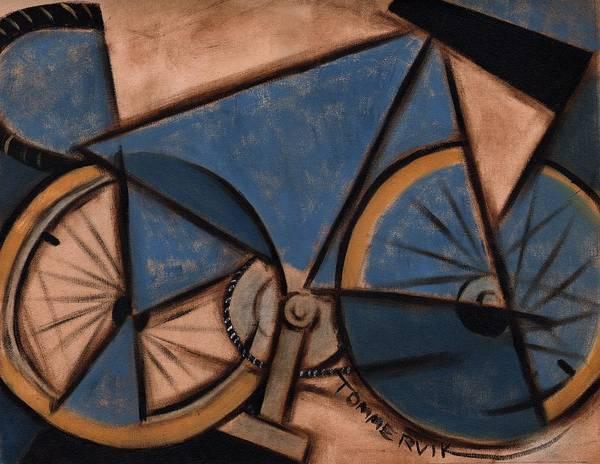 Tommervik Blue Abstract Ten Speed Art Print Art Print