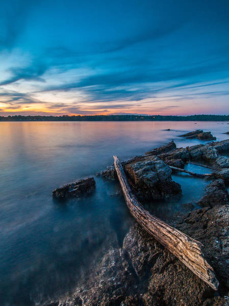 Adriatic Wall Art - Photograph - Blue Adriatic Evening by Davorin Mance